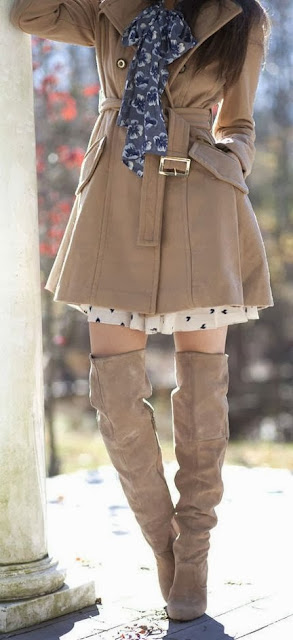 Winter Fashion With Cute Coat And Boots