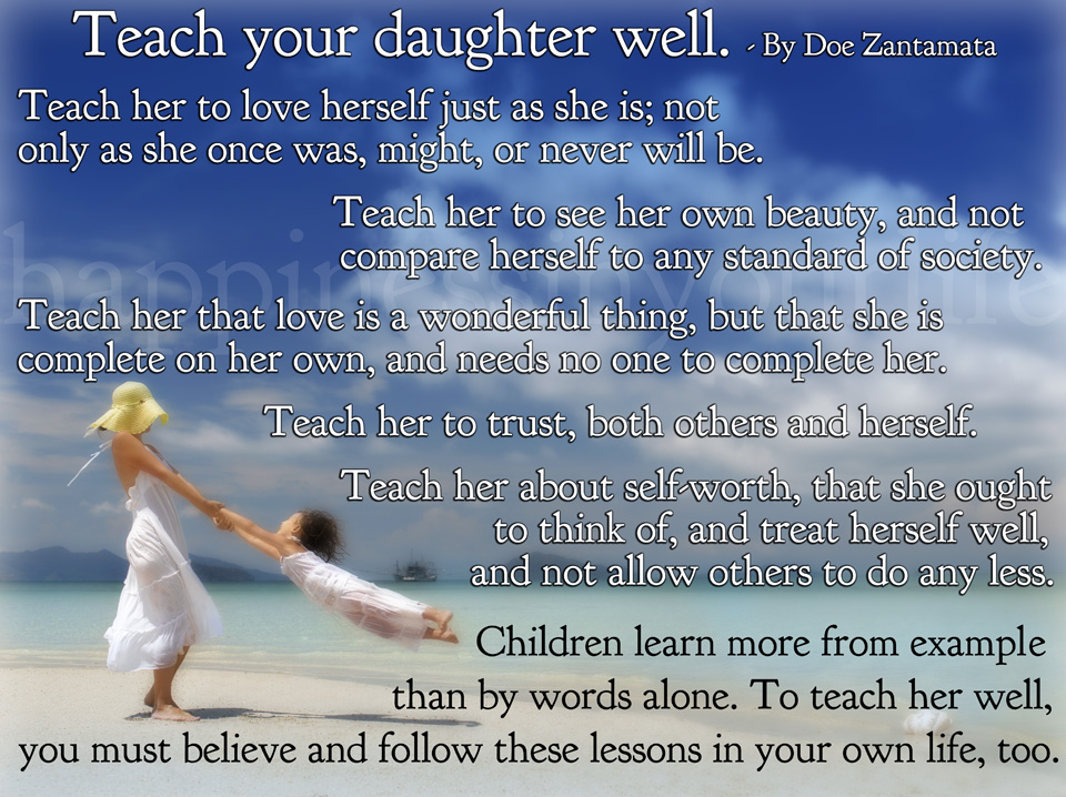 teach your daughter well