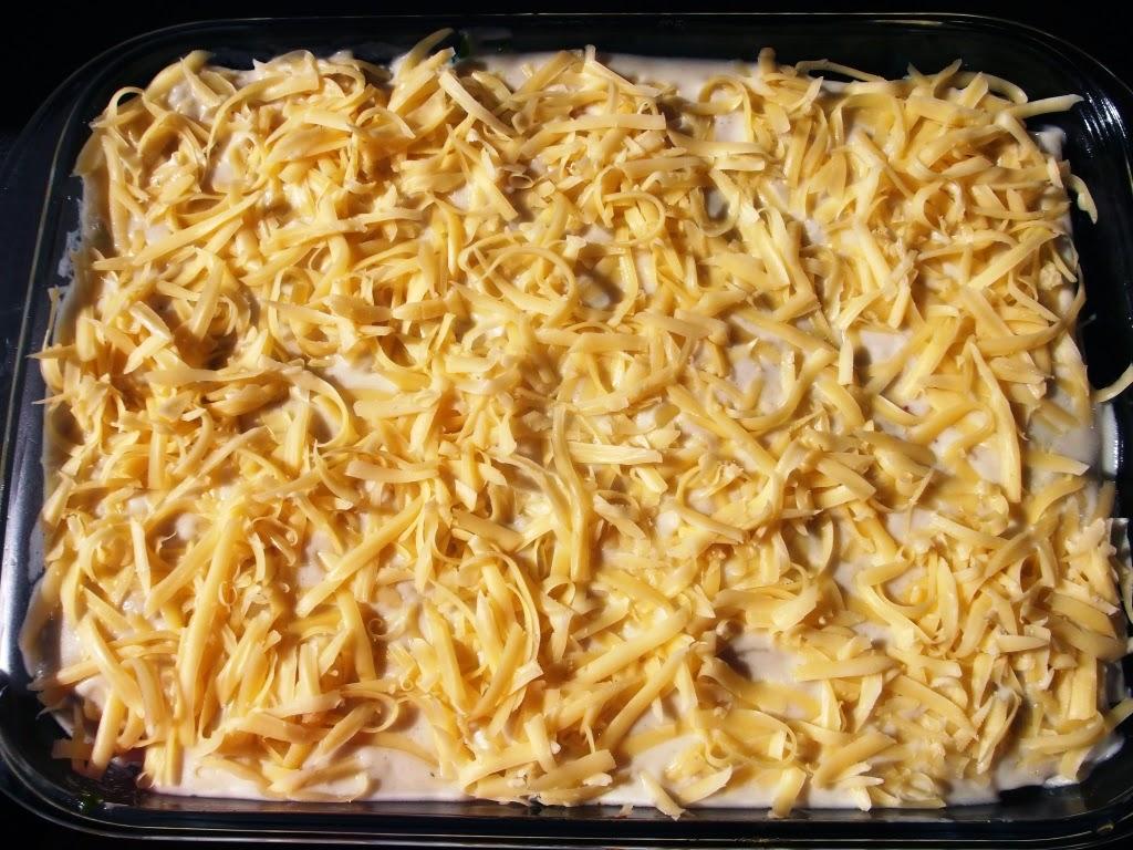 składanie lasagne - warstwy