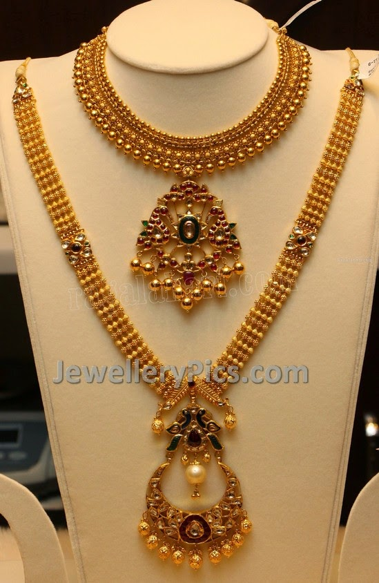 Designery antique beads haram and necklace