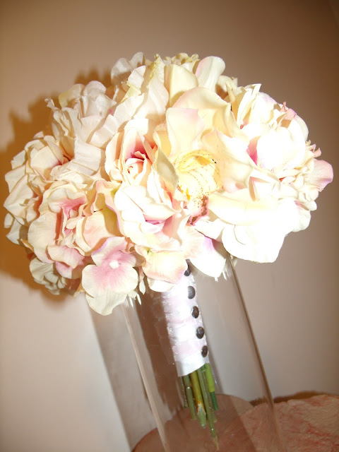 Pink and Ivory Bridal Bouquet wedding pink ivory bouquet GEDC0746