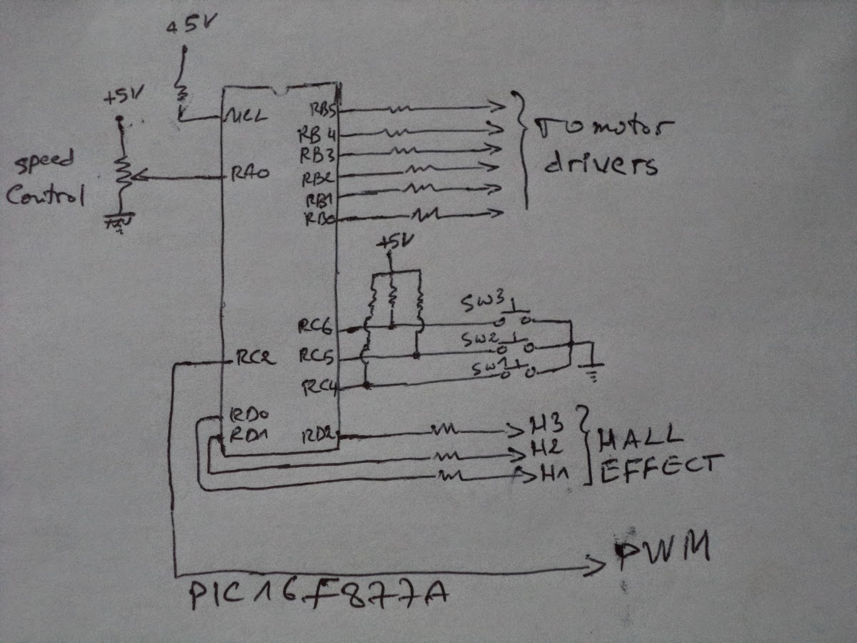 C D Motor Controller Free Download Brushless Dc Control Schematic Diagram Ku63 Electronic Microcontroller Projects Cd Rom 3 Phase Sensored Bldc Speed At