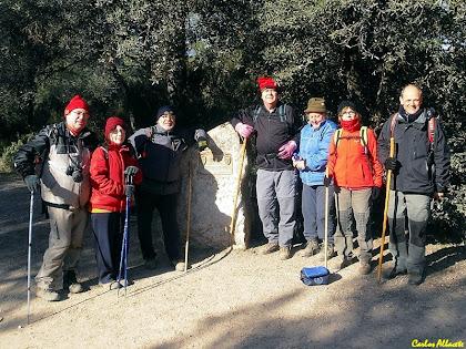 Els caminants a l'Alzina Balladora en la Caminada de Castellar del Vallès al Puig de la Creu 2012. Autor: Carlos Albacete