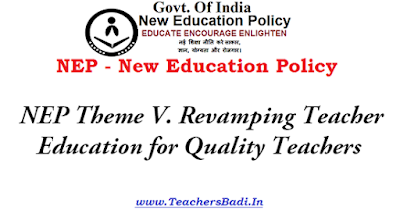 NEP Theme,Revamping Teacher Education,Quality Teachers