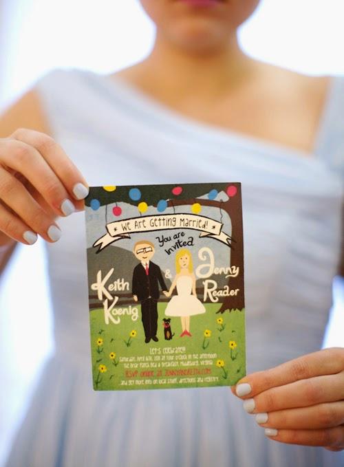 Thiệp cưới dạng Postcard lạ lẫm bắt mắt 11