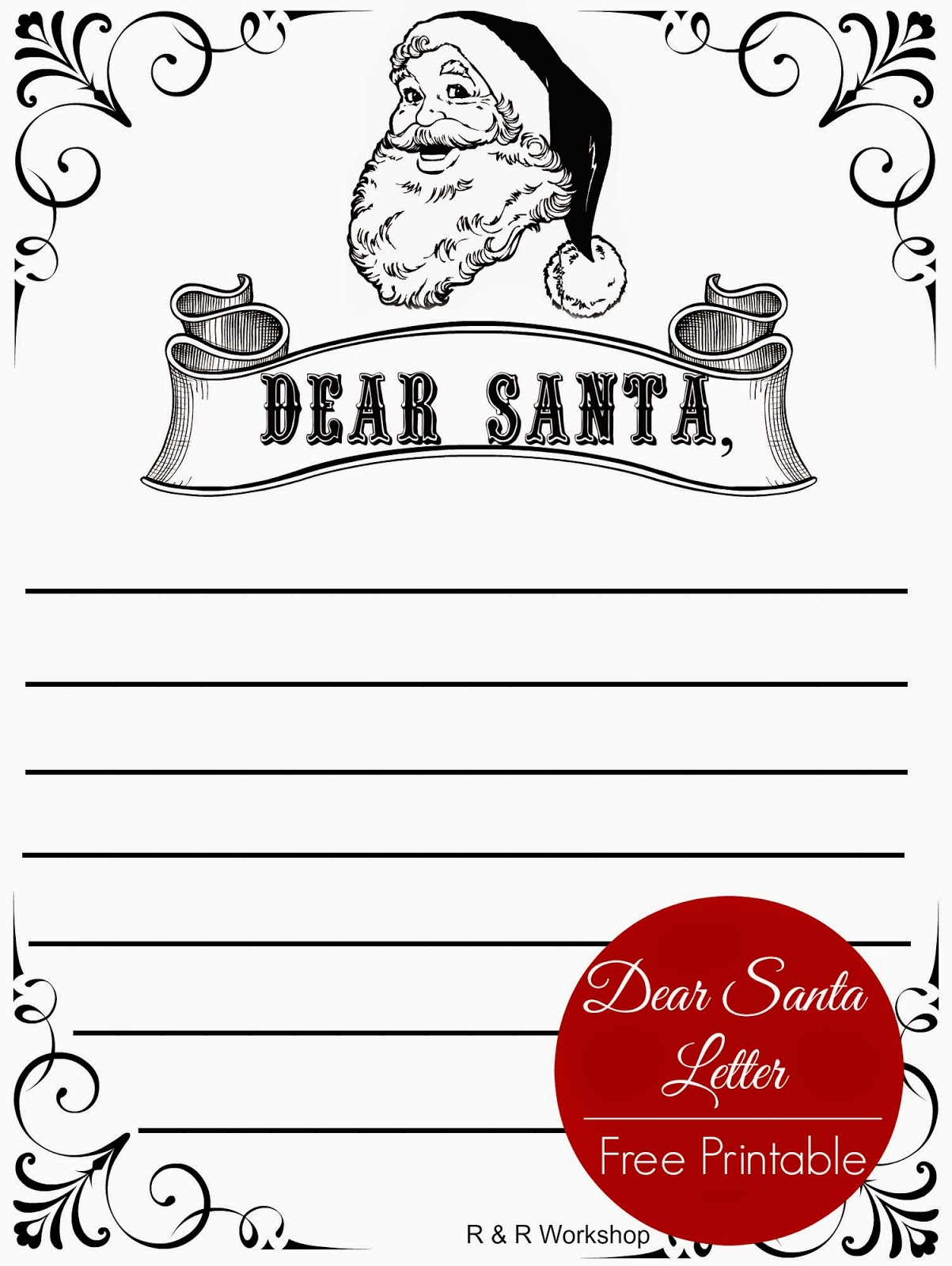 Gorgeous image pertaining to dear santa printable