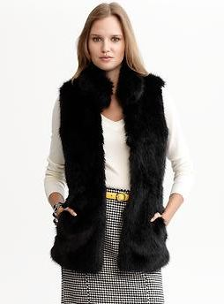 Banana Republic Anna Karenina, Fall fashion, fur vest, faux fur