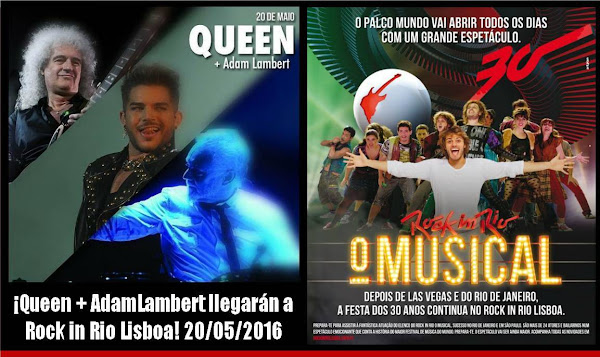 Queen + AdamLambert en Rock in Rio Lisboa 20/05/2016