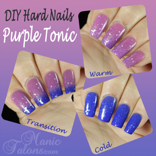 DIY Hard Nails Purple Tonic Swatch