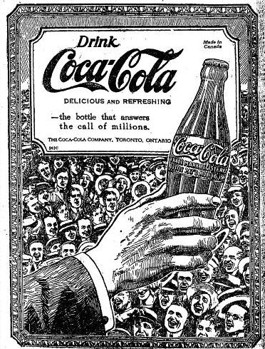 Pioneer Vintage Advertisements 1920 Toronto Coca Cola Ad