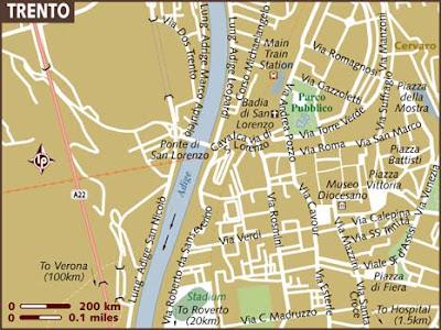 Mappa Regione Trento