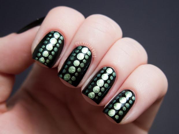 reptilian dot nail art chalkboard
