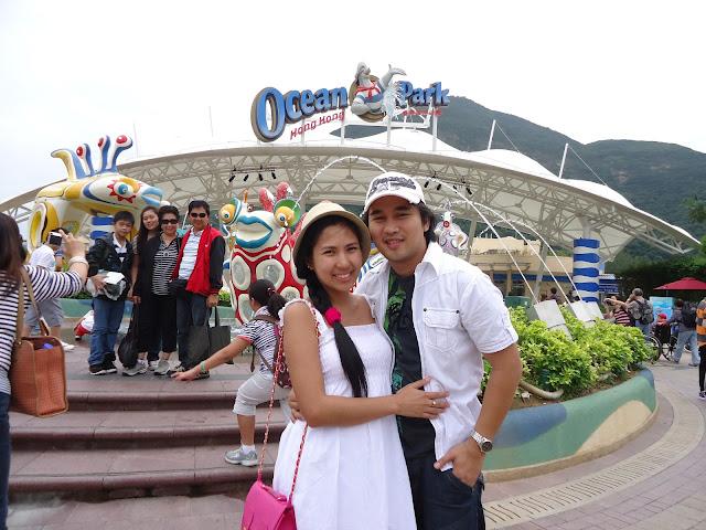 Ed and Lady in Ocean Park Hongkong
