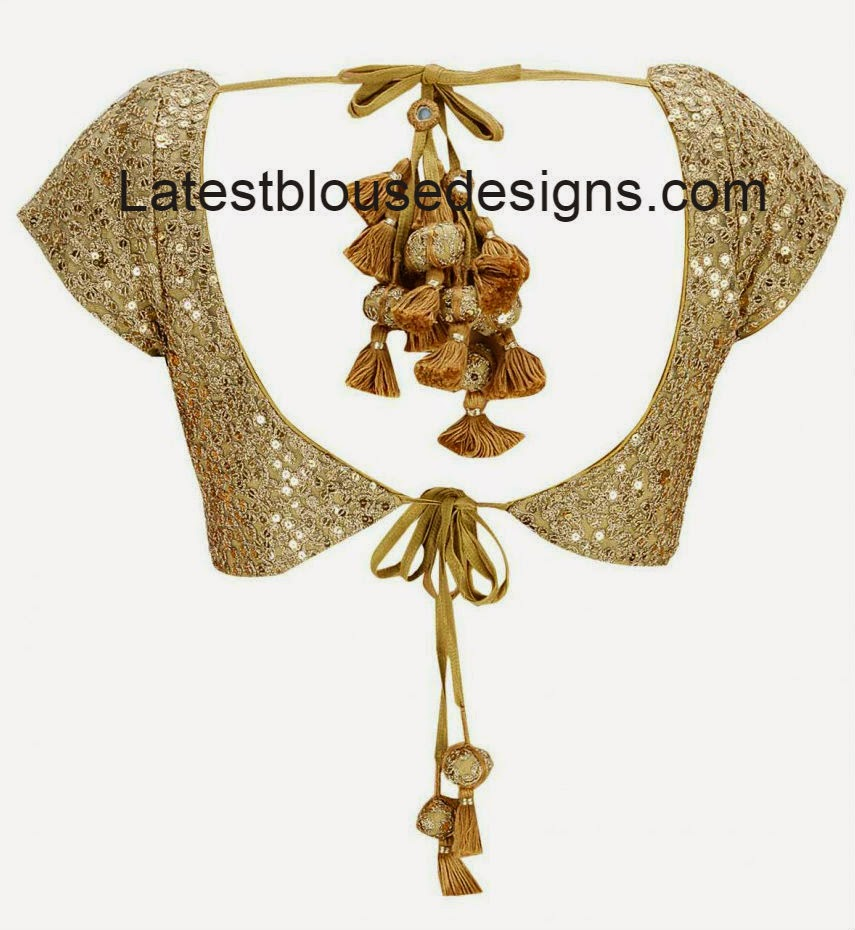 gold color designer saree blouse
