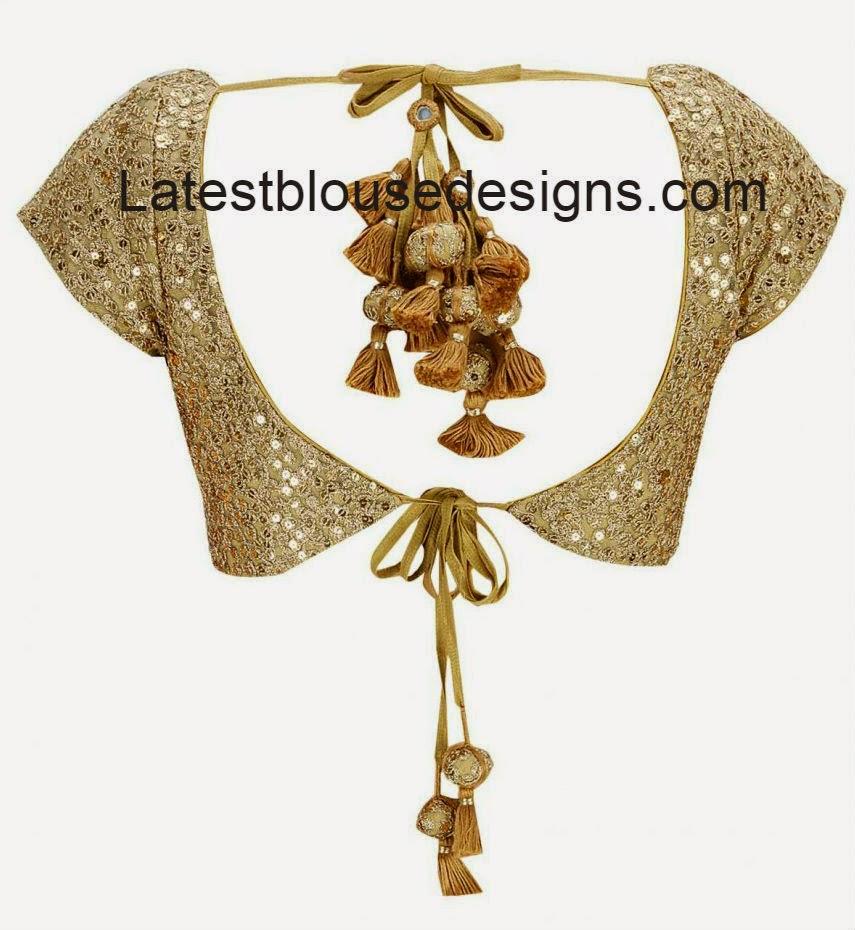 gold color designer saree blouse