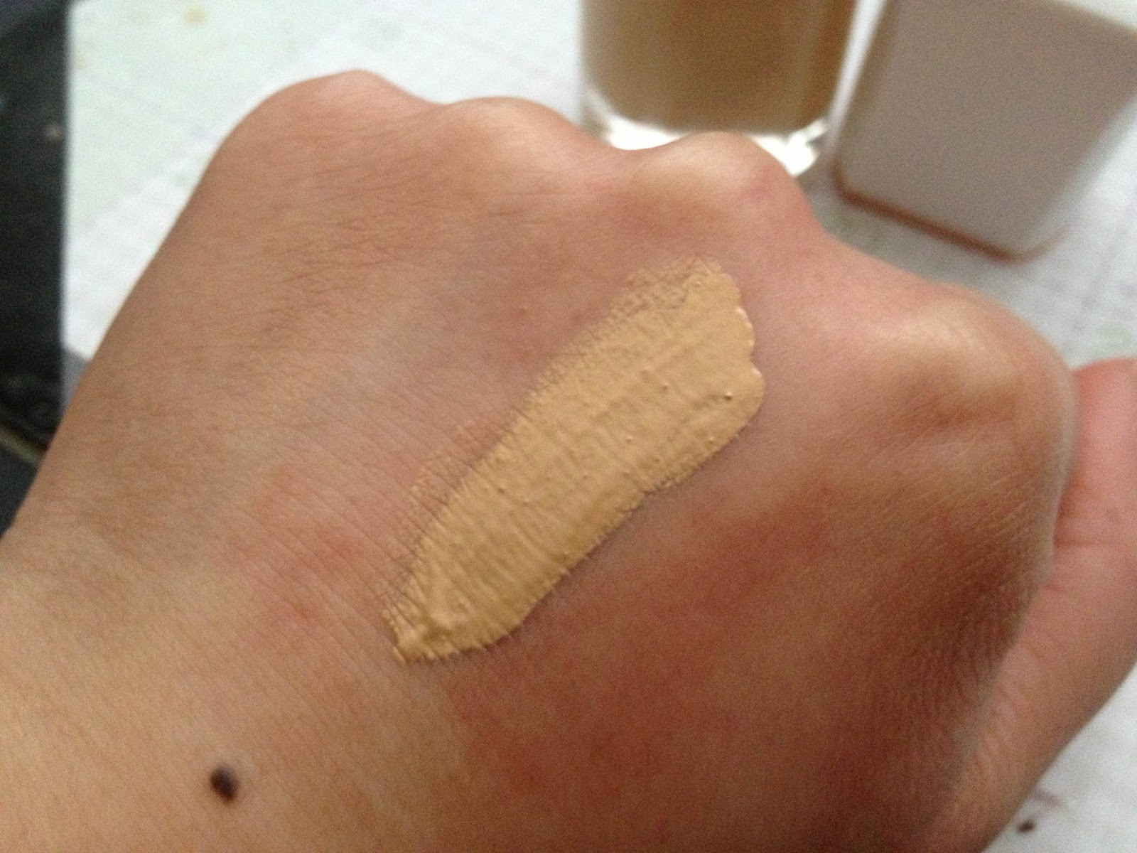 N2xquisite weekend haul new drew barrymore flower cosmetics here is a swatch of the foundation and as you can see this shade has a yellow undertone yayy i am lightmedium at the moment and this was one of the izmirmasajfo