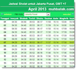 jadwal shalat indonesia
