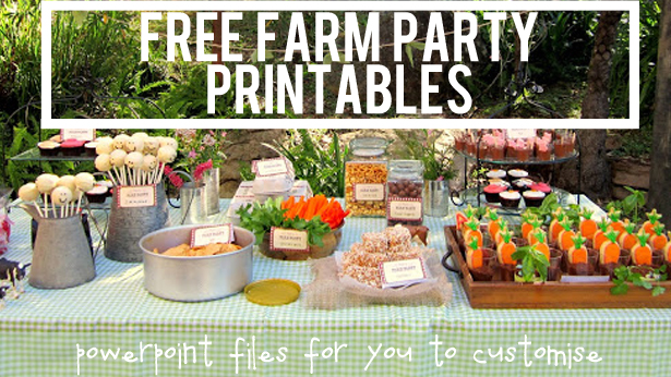 Farm party free printables