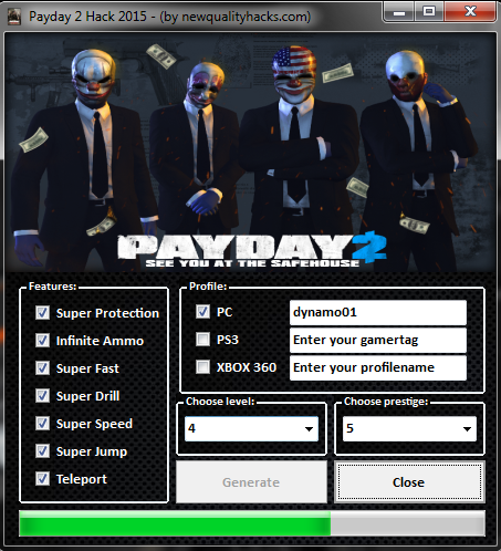 payday 2 easy exp