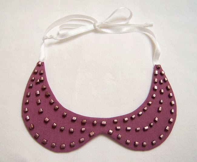 DIY Collar Necklace tutorial