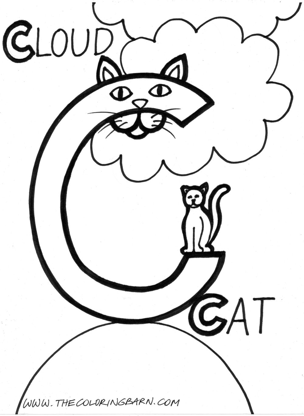 Cutest landing c is for constipation for Letter c coloring pages for preschoolers
