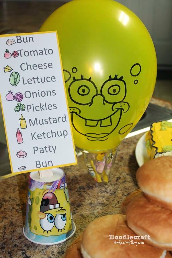 Doodlecraft Spongebob Squarepants Birthday Party