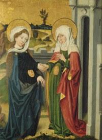 Escena de la Visitación de María a su prima Santa Isabel