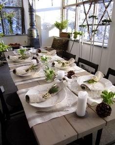 Décoration de table à Noël Réveillon