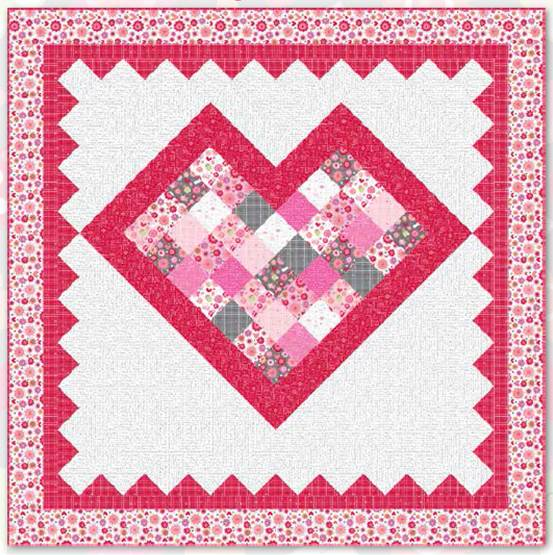 Something Fun For Valentine S Day Free Pattern Thequiltshow Com
