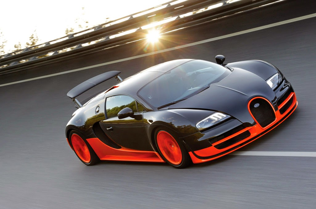 Bugatti Veyron Orange Full HD Wallpaper