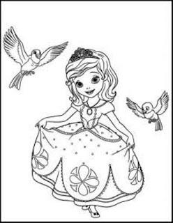 Bermain dan Belajar Mewarnai Gambar Putri Sofia