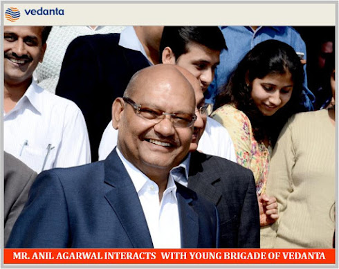 MR. ANIL AGARWAL MEETING YOUNG BRIGADE OF VEDANTA