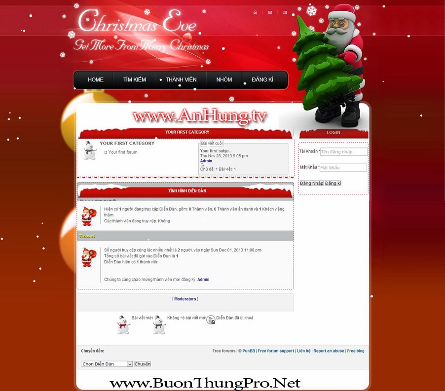 Skin Giáng Sinh Mery Christmas 2013 forumtion