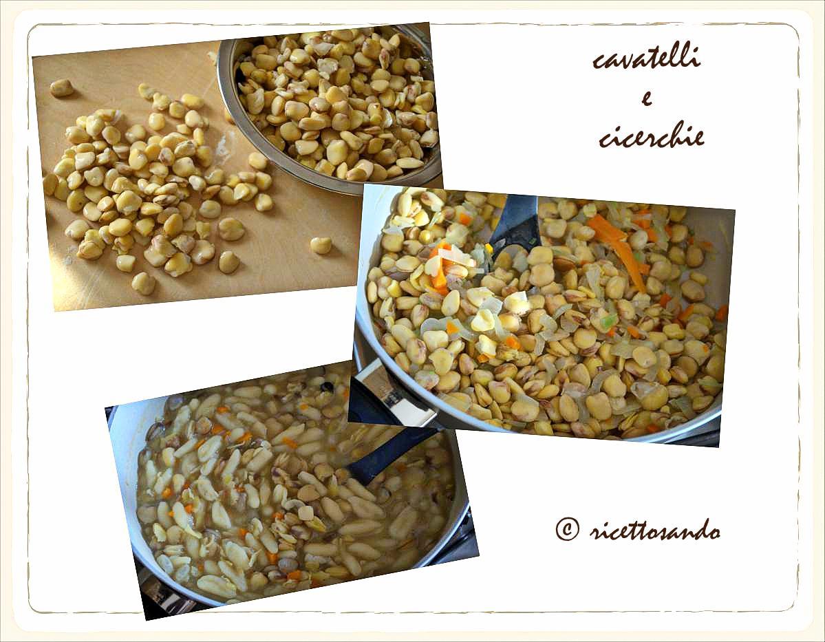 Cavatelli con le cicerchie pasta fatta in casa ricetta primi
