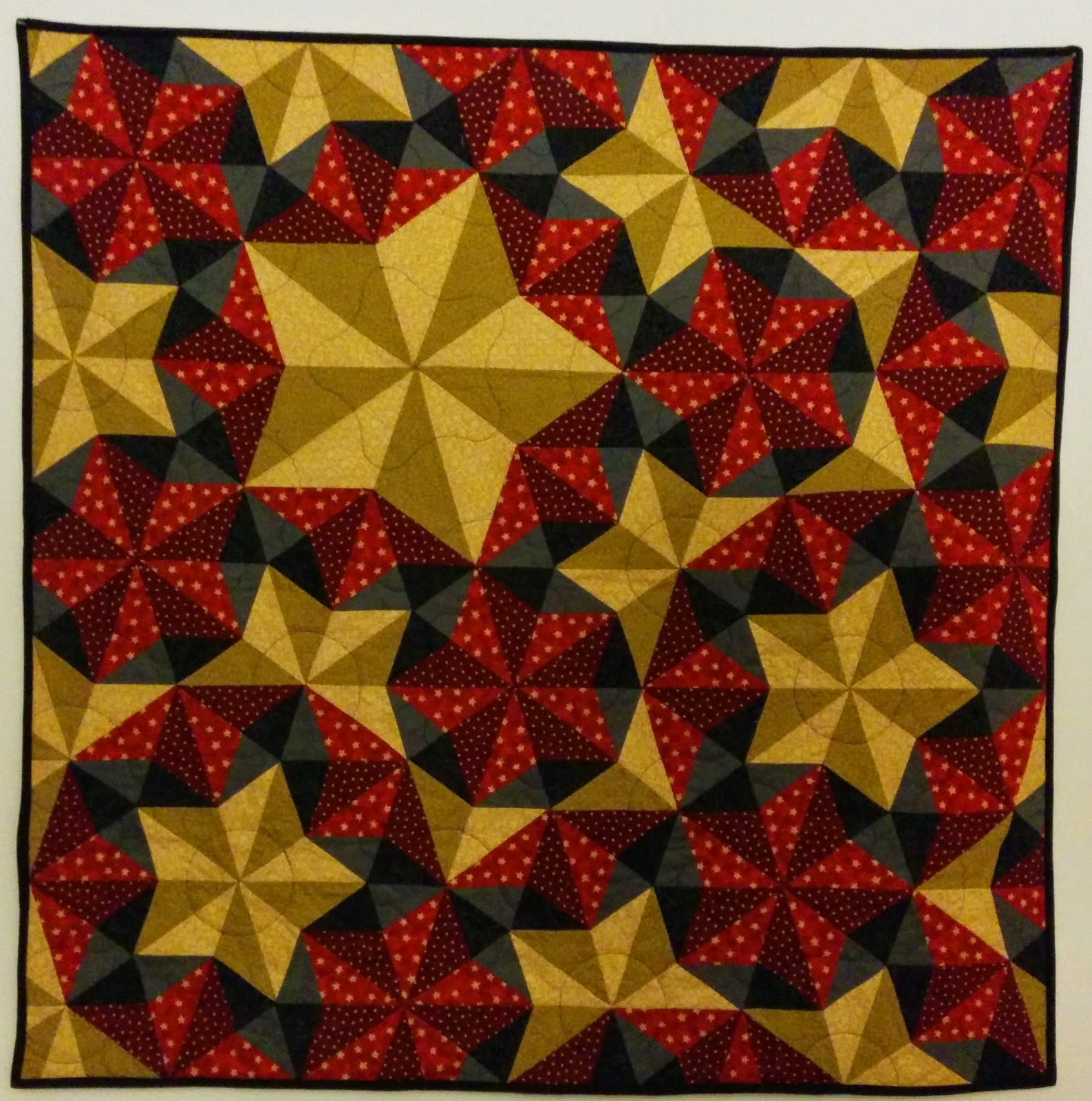 Dunawi Creek: Penrose Tile Quilt with Mylchreest Stars - Design Phase : tile quilt - Adamdwight.com