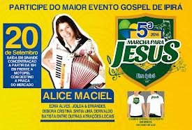 5ª Marcha para Jesus de Ipirá 2014.