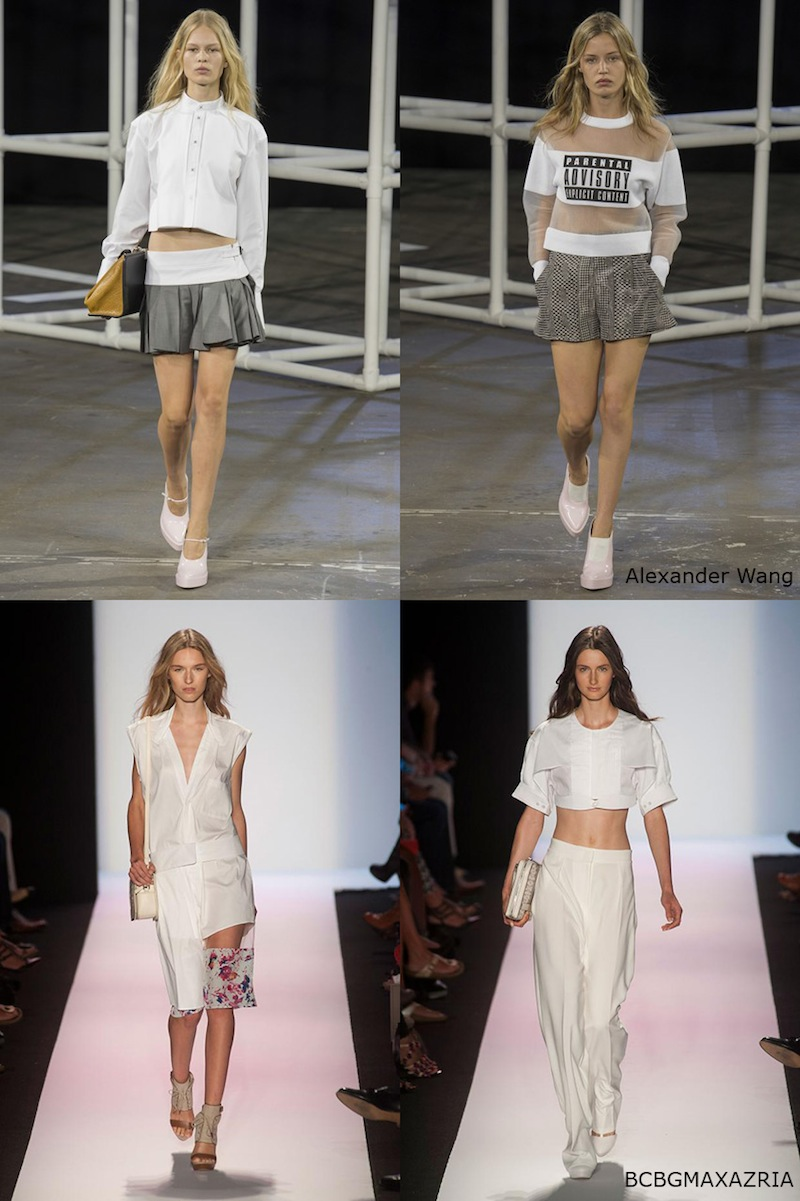 New York Fashion Week, NYFW, SS 2014, Alexander Wang, BCBGMAXAZRIA, sheer, white, sporty, sports luxe