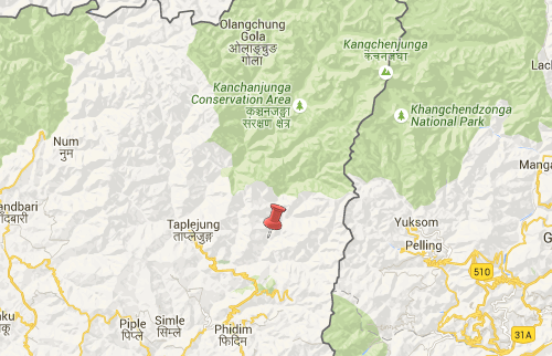 taplejung earthquake epicenter map