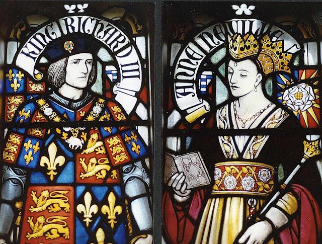 Ricardo III e a rainha Ana, vitral no castelo de Cardiff