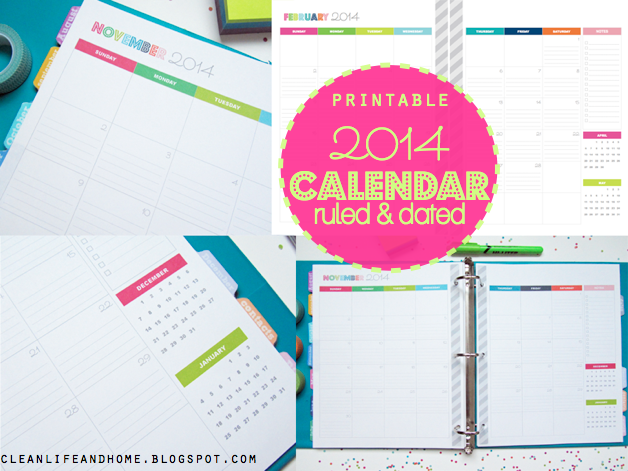 ... monthly calendar! This planner package includes 24 pages in total