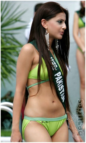 Miss Pakistan Hot in Bikini Photos