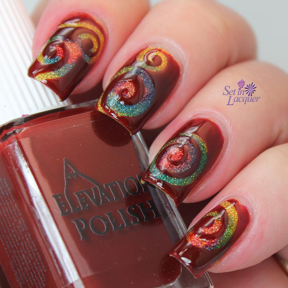 Spiral nail art