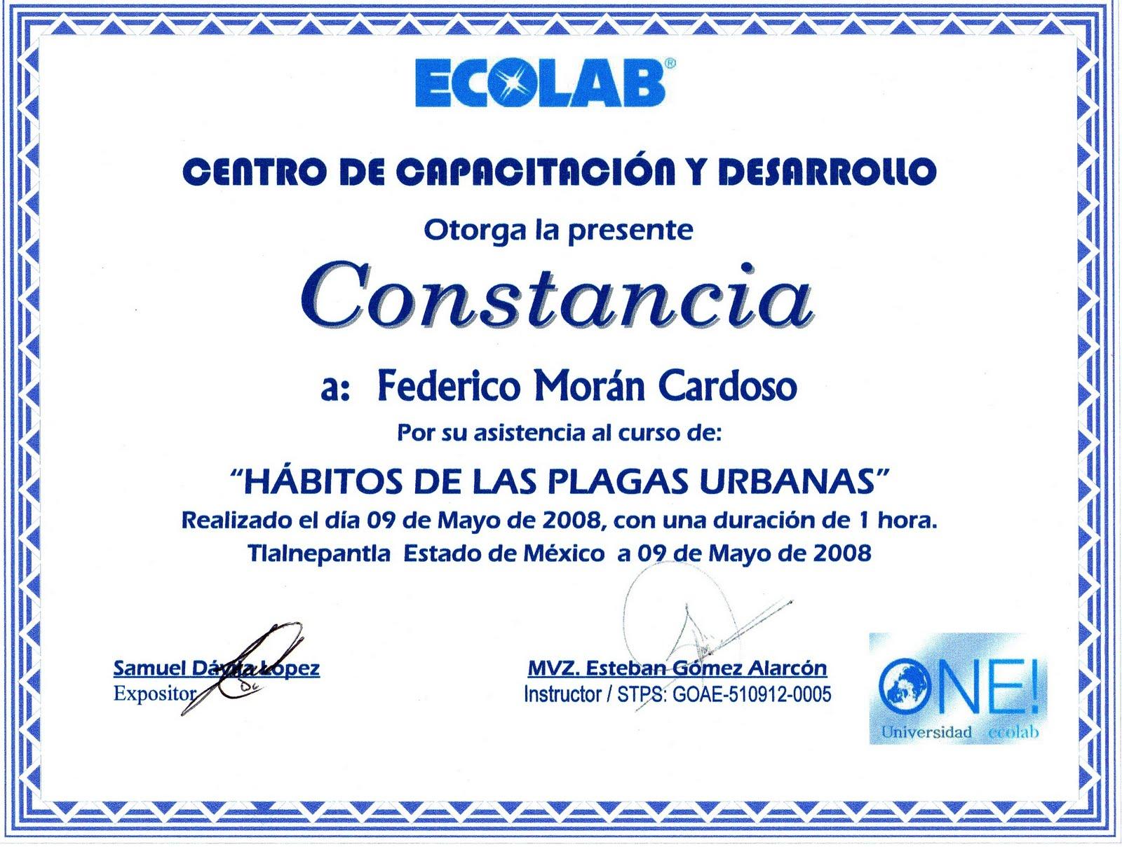 de Curso para Control de plagas en Almacenes por parte de Ecolab