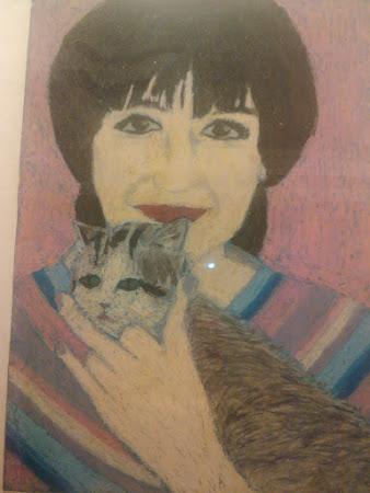 A moça e o gato