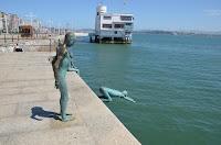 Santander. Escultura de los raqueros