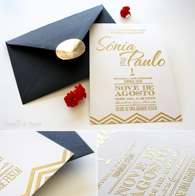 convites de casamento óscares
