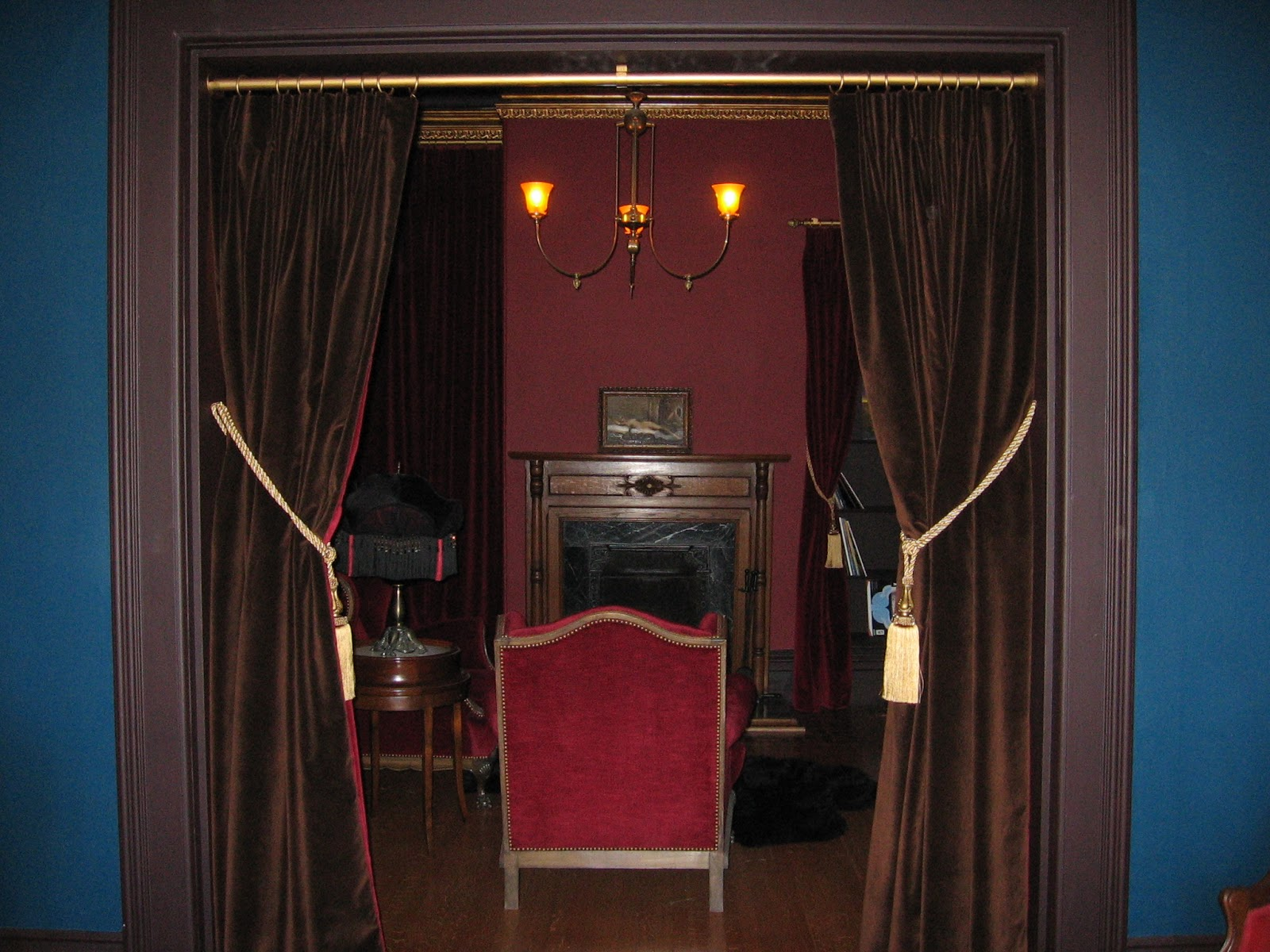 Victorian velvet curtains - Curtains Ideas Burgundy Velvet Curtains Drape Designers Victorian Portiere Door Drape