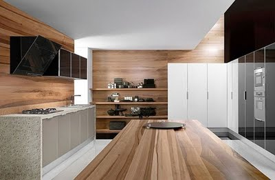 Kitchen home design decoracion de cocinas con madera modernas - Cocina moderna madera ...