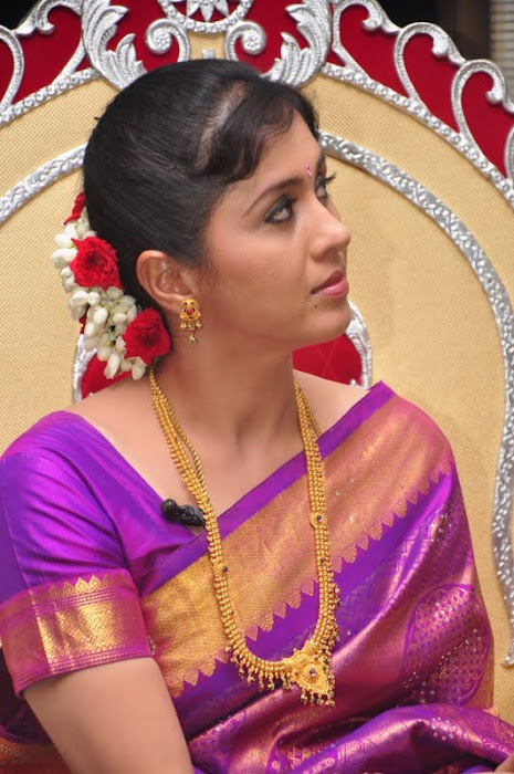devayani new saree @ kodi mullai tv serial success meet hot images