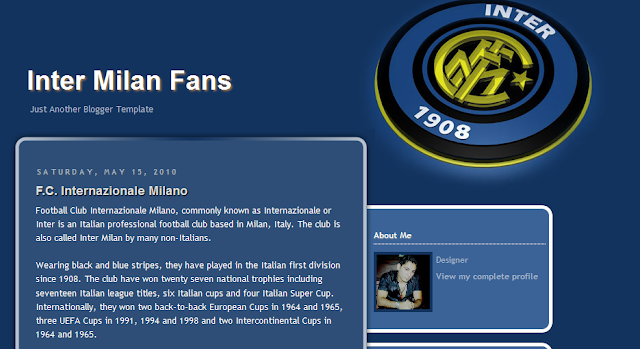 Inter Milan Blogger Template